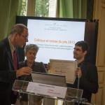 """Colloque """" chômage, facteur de pauvreté"""" lors de la sortie du rapport statistique 2012. Remise du Prix 2013 de la Fondation à Olivier  Peyroux, Docteur en Sociologie."""