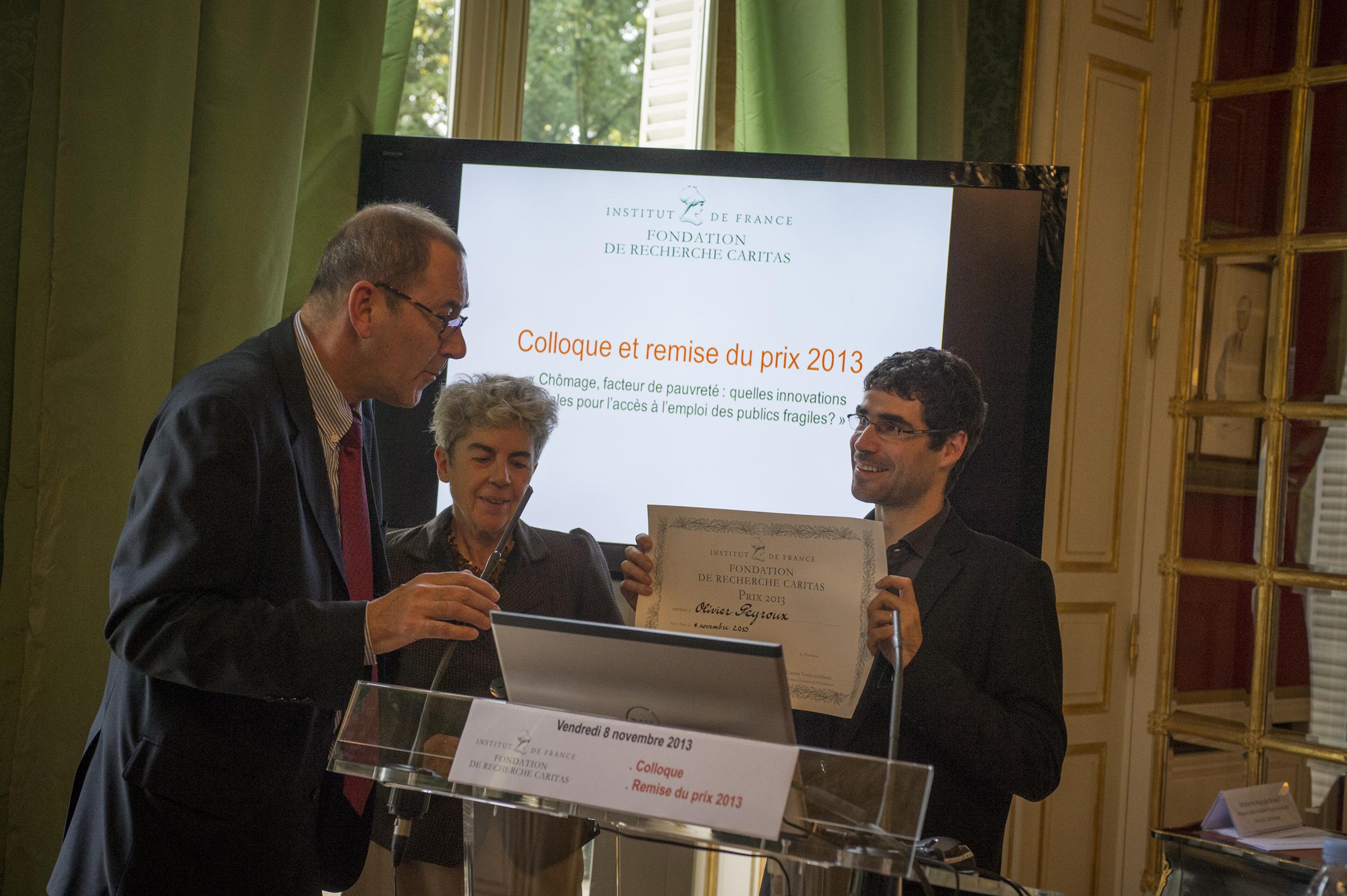 #10ansdeGénérosité – 10 lauréats du Prix de Recherche Caritas – 2013 – Olivier Peyroux