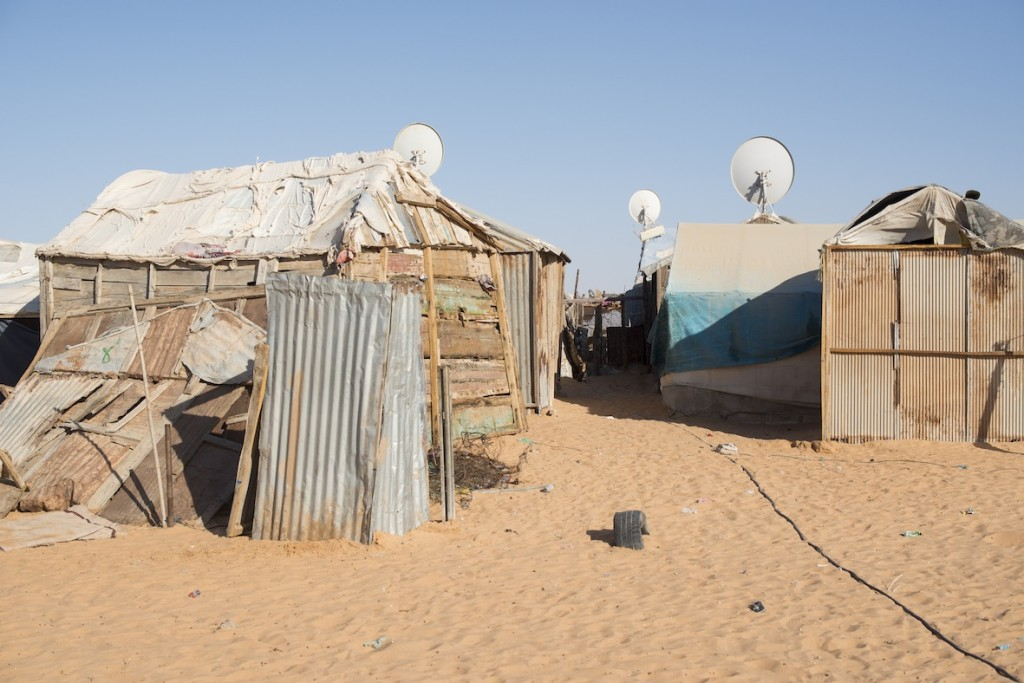 Les kebbes, nom donne aux bidonvilles en peripherie de Nouakchott, ou se concentrent les actions de Caritas.