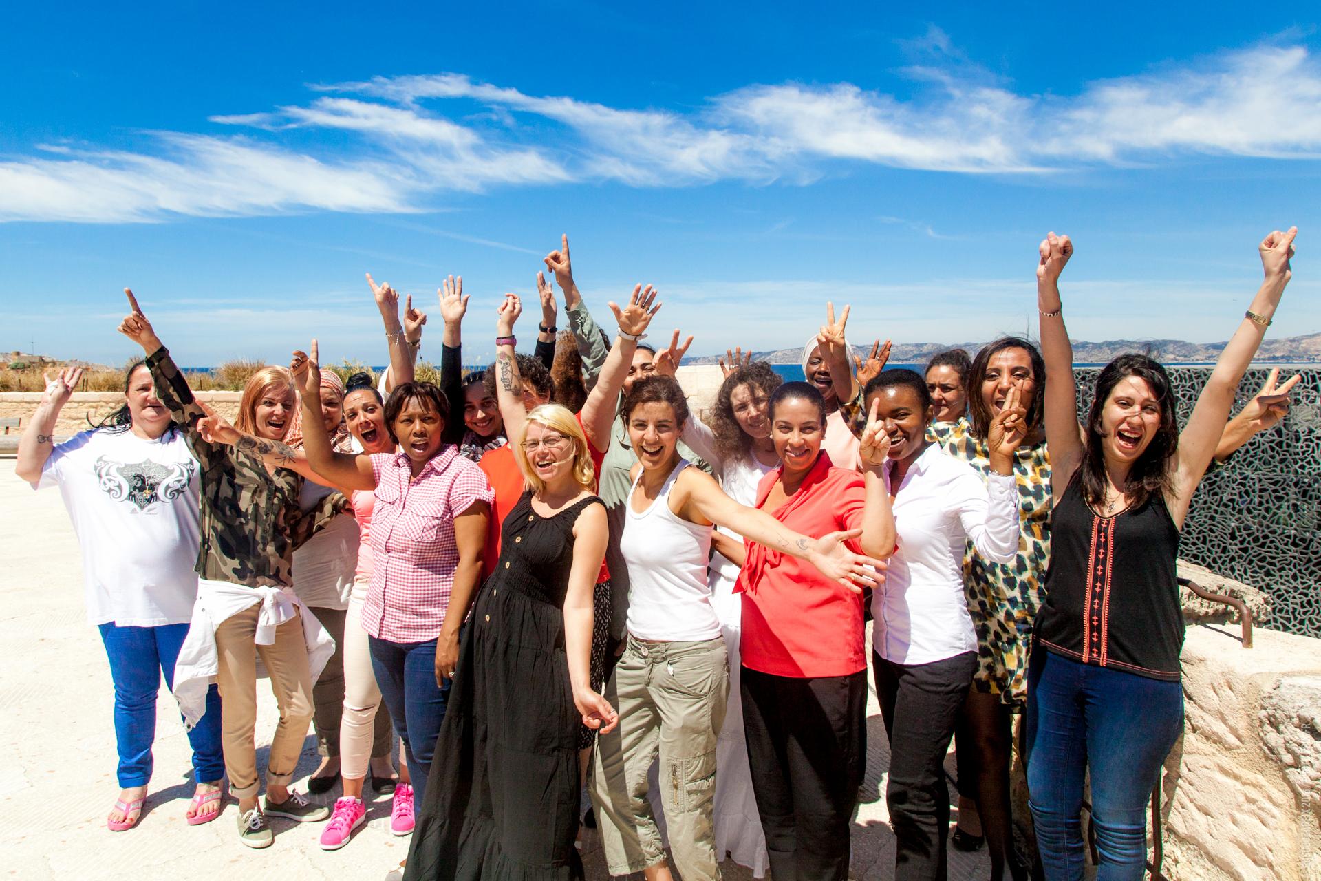 La Fondation Caritas, Alain Ducasse et 12 femmes accompagnées